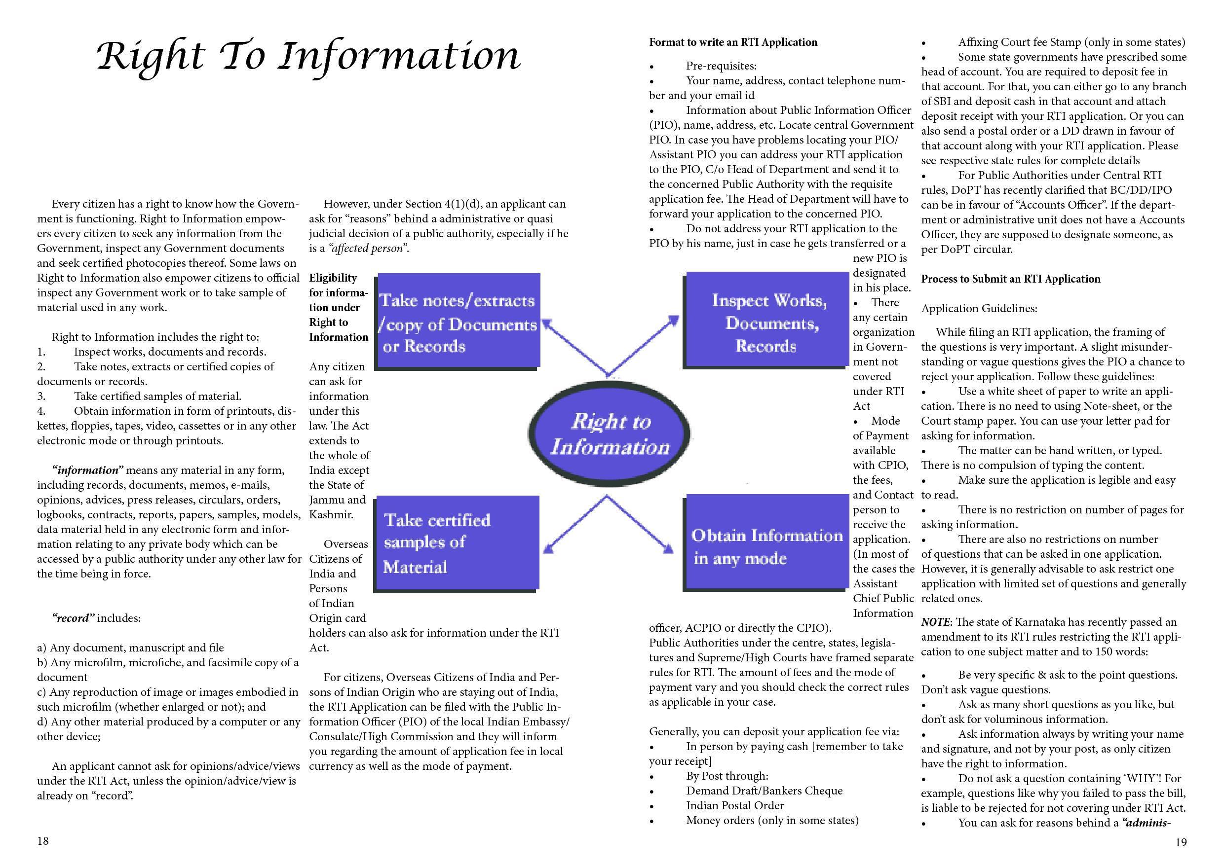 right to information in public bodies
